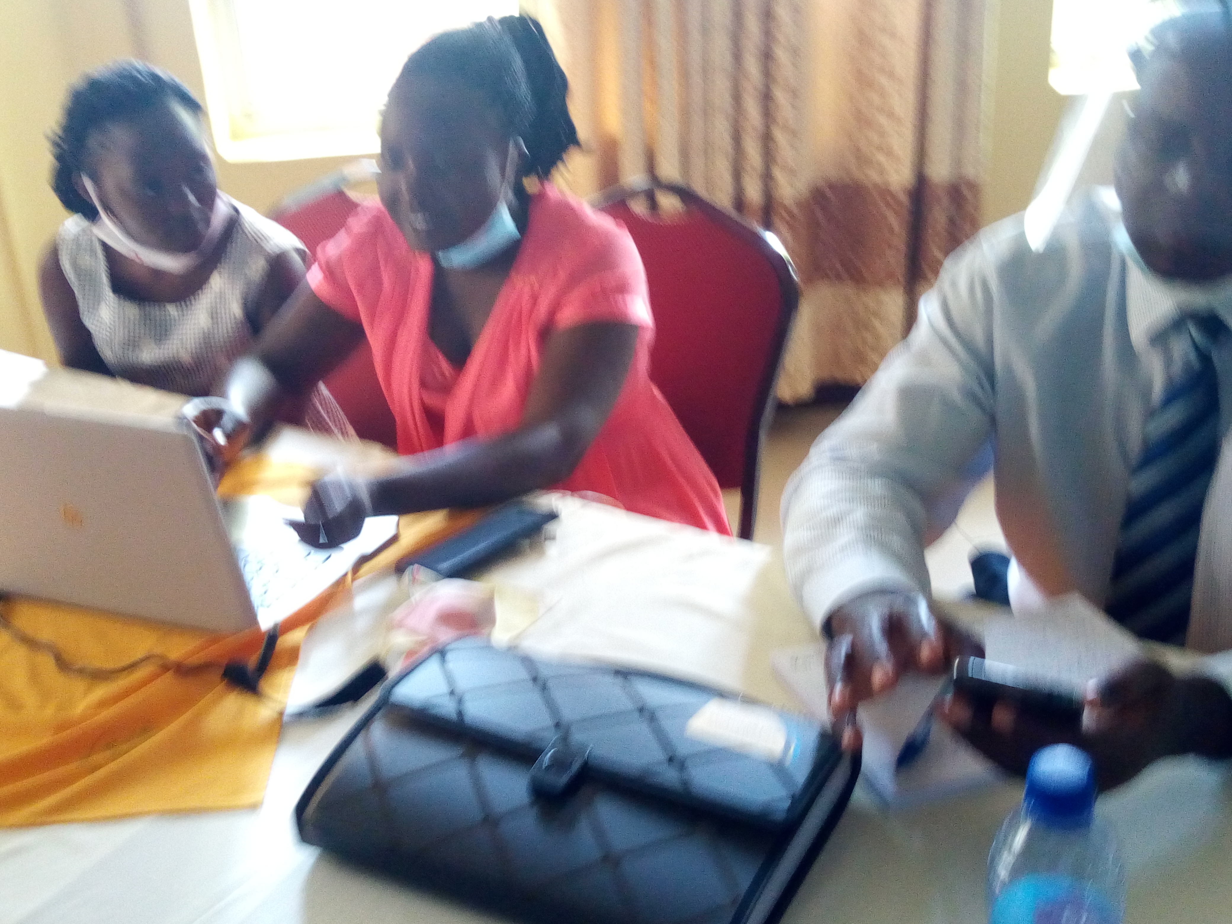 Some of the participants at the training.
